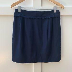 j crew scalloped trim mini skirt